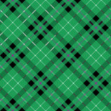 Hibernian fc tartan fabric texture diagonal seamless pattern. Vector illustration. EPS 10. No transparency. No gradients Stock Image