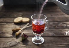 Hibisco caliente del té Foto de archivo libre de regalías