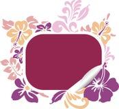 hibiscus εμβλημάτων Στοκ εικόνες με δικαίωμα ελεύθερης χρήσης