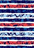 Hibiscus και λωρίδες παραλιών. Στοκ εικόνα με δικαίωμα ελεύθερης χρήσης