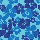 hibiscus πρότυπο άνευ ραφής Στοκ Φωτογραφίες