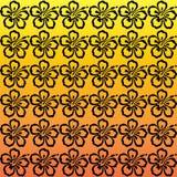 Hibiscus σχέδιο λουλουδιών Στοκ Εικόνες