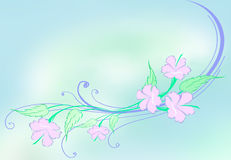 hibiscus σχεδίου Στοκ εικόνα με δικαίωμα ελεύθερης χρήσης