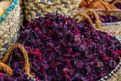 Hibiscus τσάι. Εκλεκτική εστίαση Στοκ Φωτογραφία