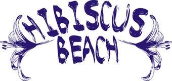 hibiscus пляжа Стоковая Фотография