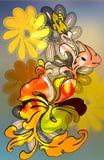 hibiscus прогара ретро Стоковые Фотографии RF