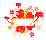 Hibiscus background, vector Stock Photos