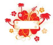 Hibiscus background, vector Stock Photos