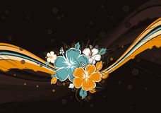 Hibiscus on background, vector Royalty Free Stock Images