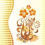 Hibiscus. Bloemen achtergrond. Stock Afbeelding
