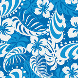 Hibiscus blue abstract tropical. Stock Photography