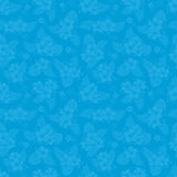 Hibiscus blue pattern. Royalty Free Stock Photos
