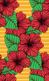 Hibiscus bouquet tropical pattern Stock Photo