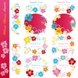 Hibiscus design elements set Royalty Free Stock Image