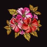 Hibiscus floral bouquet Stock Photo