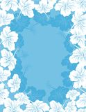 Hibiscus flower frame. Hawaiian pattern vector illustration