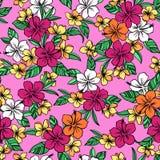 Hibiscus flower pattern Stock Photo