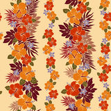 Hibiscus flower pattern Royalty Free Stock Images