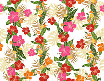 Hibiscus flower pattern Stock Photography