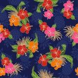Hibiscus flower pattern Stock Image