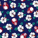 Hibiscus flower pattern Stock Photos