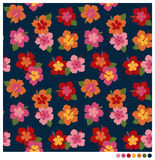 Hibiscus flower seamless patterm. Summer seamless pattern with hibiscus flower royalty free illustration