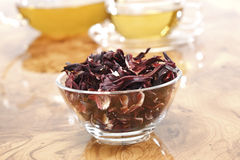 Hibiscus flower tea Royalty Free Stock Images
