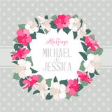 Hibiscus flower wreath Stock Image