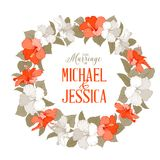 Hibiscus flower wreath Stock Images