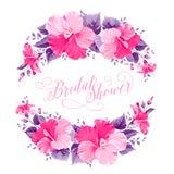 Hibiscus flower wreath Stock Image