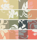 Hibiscus flowers seamless pattern Royalty Free Stock Photos