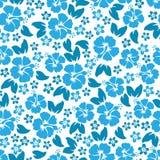 Hibiscus flowers seamless pattern. Hawaiian Aloha Shirt Seamless Background. Stock Photo