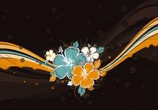 Hibiscus op achtergrond, vector vector illustratie