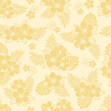 Hibiscus pattern. Summer tropical background. hibiscus, palm leaf and monstera Royalty Free Stock Images