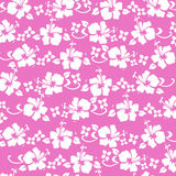 Hibiscus pattren hot pink. Traditional hawaiian pattern in hot pink Royalty Free Stock Image