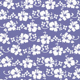 Hibiscus pattren purple. Traditional hawaiian pattern in purple Stock Images
