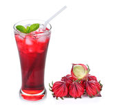 Hibiscus sabdariffa or roselle fruits and roselle juice Stock Images
