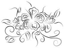 Hibiscus tattoo Stock Photo