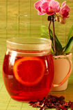 Hibiscus Tea. With lemon and a cup of tea Royalty Free Stock Images