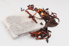 Hibiscus- tea bags Royalty Free Stock Photography