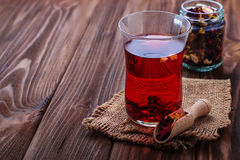 Hibiscus tea with dried fruit Royalty Free Stock Photography