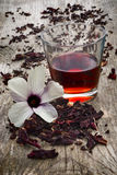 Hibiscus tea (Hibiscus sabdariffa) flower and sepals dried for i Stock Image