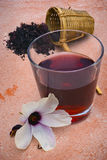 Hibiscus tea (Hibiscus sabdariffa) flower and sepals dried for i Stock Photo