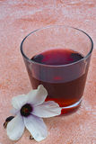 Hibiscus tea (Hibiscus sabdariffa) flower and sepals dried for i Stock Photography