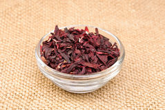 Hibiscus tea macro dry flower Royalty Free Stock Photography