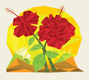 Hibiscus Triangulated ilustração stock