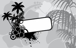 Hibiscus tropical hawaii copyspace background. In vector format very easy to edit Stock Photo