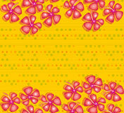 Hibiscus vermelho em pontos amarelos ilustração royalty free