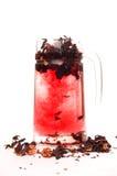 hibiskus som förbereder tea Arkivfoto