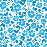 Hibiskusen blommar seamless mönstrar Hawaiibo Aloha Shirt Seamless Background Arkivfoto